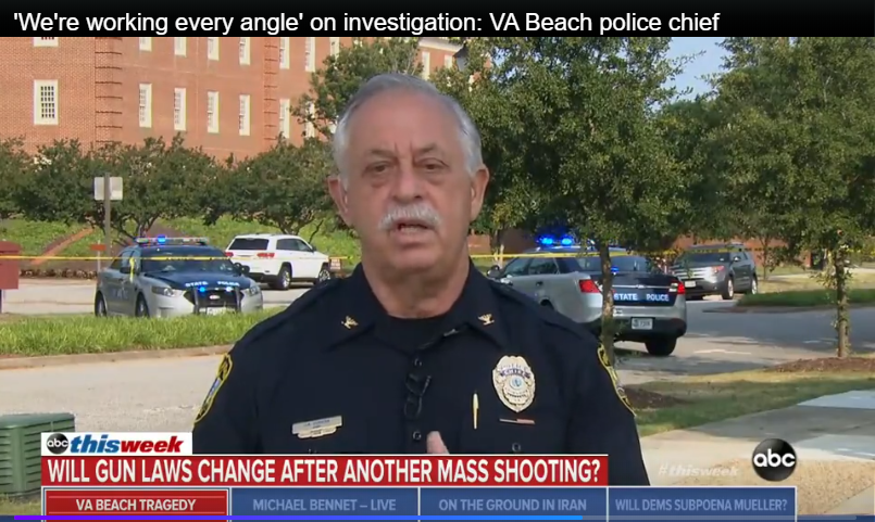 Virginia Beach Police Chief: Gun Control Would Not Have Mattered in Mass Shooting