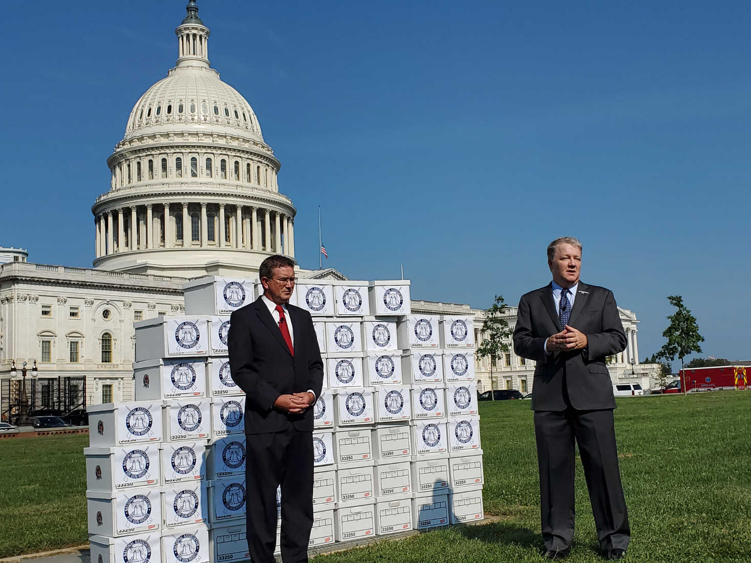 Gun Rights Group Delivers Petitions Opposing Federal Gun Bills