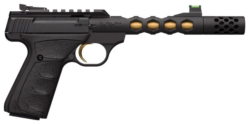 Product Review: Browning Buck Mark Plus Vision Black & Gold Suppressor Ready .22LR